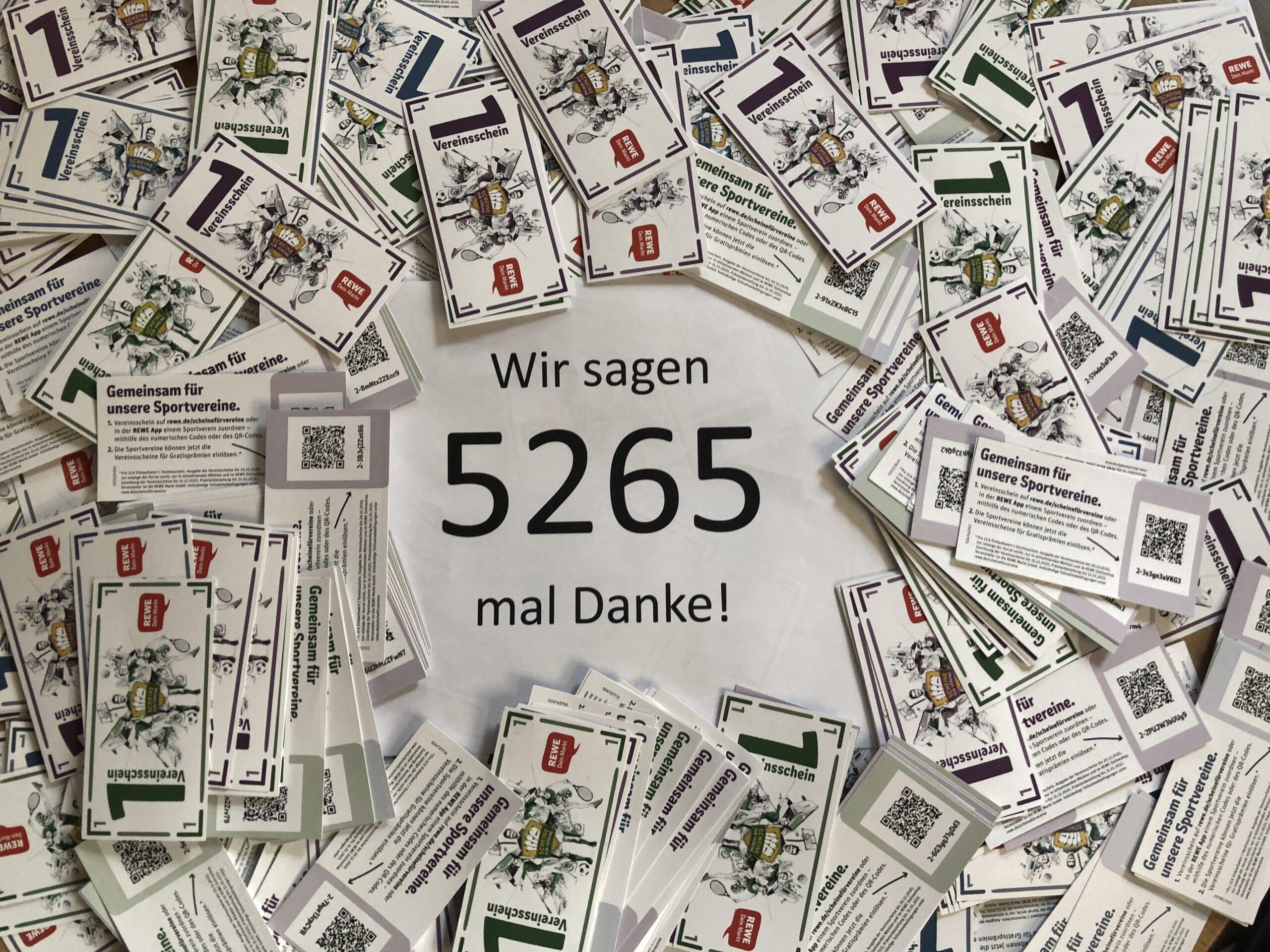 Wir sagen 5265 mal Danke